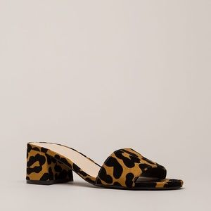 Shoes - Girl on the go leopard mules